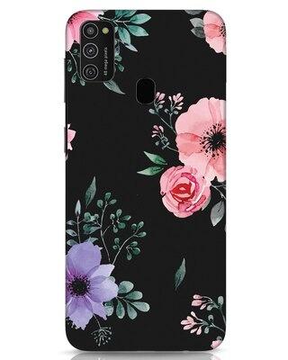 Shop Dark Florals Samsung Galaxy M21 Mobile Cover-Front