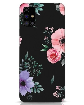 Shop Dark Florals Samsung Galaxy M31s Mobile Cover-Front