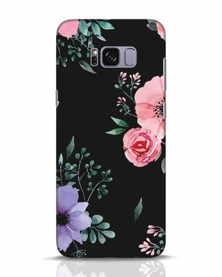 Shop Dark Florals Samsung Galaxy S8 Plus Mobile Cover-Front