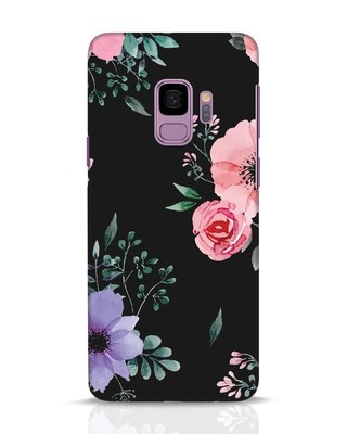 Shop Dark Florals Samsung Galaxy S9 Mobile Cover-Front