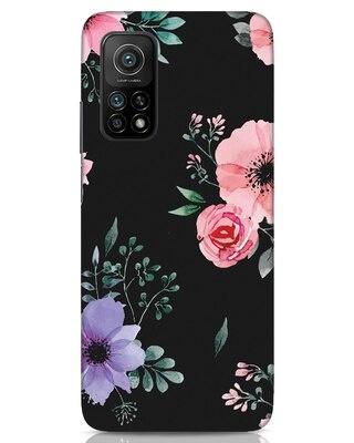 Shop Dark Florals Xiaomi Mi 10T Mobile Cover-Front