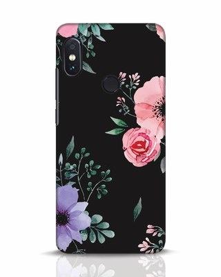 Shop Dark Florals Xiaomi Redmi Note 5 Pro Mobile Cover-Front