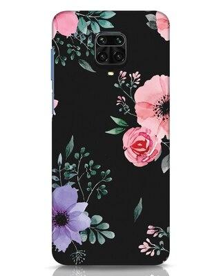 Shop Dark Florals Xiaomi Redmi Note 9 Pro Mobile Cover-Front