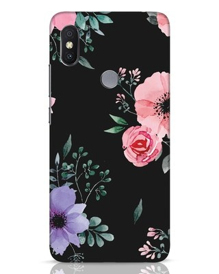 Shop Dark Florals Xiaomi Redmi Y2 Mobile Cover-Front