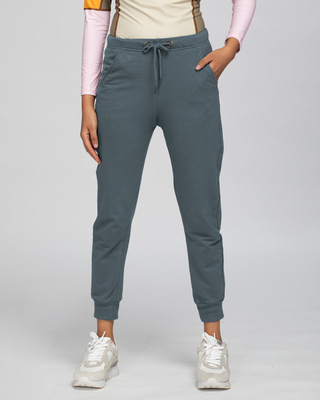Shop Dark Grey Casual Jogger Pants-Front
