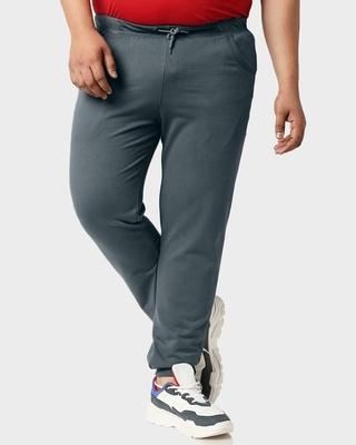 Shop Dark Grey Plus Size Casual Jogger Pants-Front