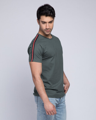 Shop Dark Horizon Half Side Panel T-shirt-Front