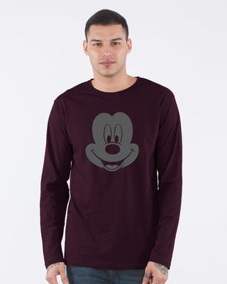 Shop Dark Mickey Face Full Sleeve T-Shirt (DL)-Front