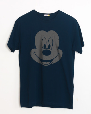 Buy Dark Mickey Face Half Sleeve T-Shirt (DL) Online India @ Bewakoof.com
