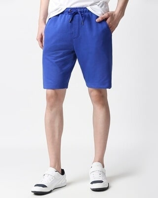 Shop Dazzling Blue Casual Shorts-Front