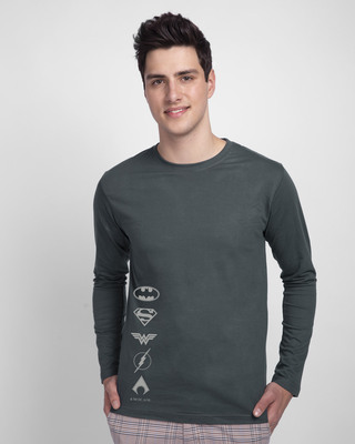 Shop Dc Logos Full Sleeve T-Shirt (DCL)-Front