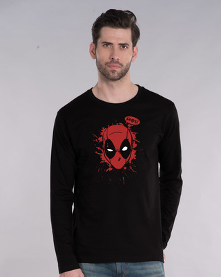 Shop Deadpool Abuse Full Sleeve T-Shirt (DPL)-Front