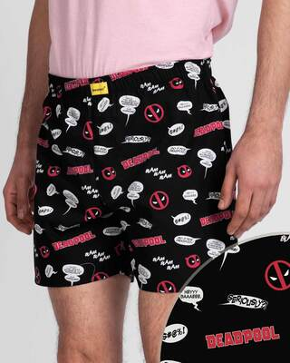 Shop Deadpool All Over All Over Printed Boxer (DPL)-Front