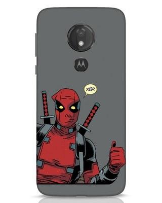Shop Deadpool Convo Moto G7 Power Mobile Cover-Front