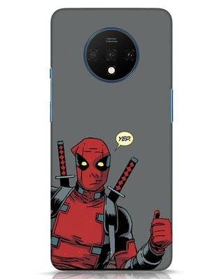 Shop Deadpool Convo OnePlus 7T Mobile Cover-Front