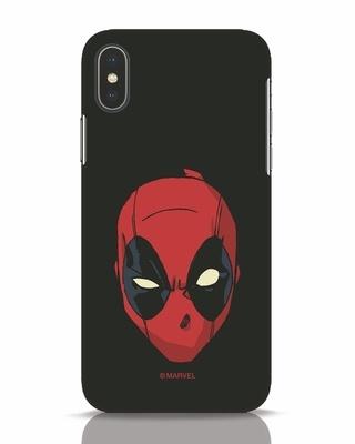 Shop Deadpool Face iPhone X Mobile Cover (DPL)-Front