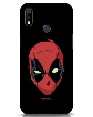 Shop Deadpool Face Realme 3i Mobile Cover (DPL)-Front