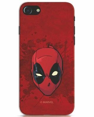 Shop Deadpool Face Splatter iPhone 7 Mobile Cover (DPL)-Front