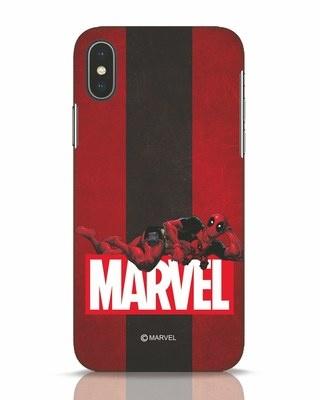 Shop Deadpool Marvel iPhone X Mobile Cover (DPL)-Front