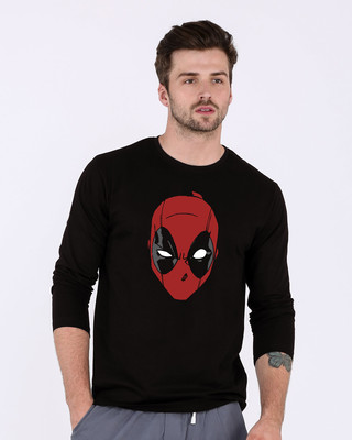 Shop Deadpool Mask Full Sleeve T-Shirt (DPL)-Front