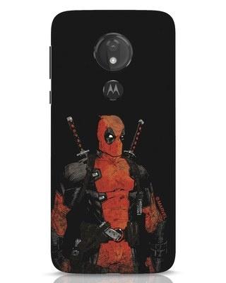 Shop Deadpool Shadows Moto G7 Power Mobile Cover (DPL)-Front