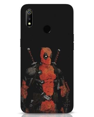 Shop Deadpool Shadows Realme 3 Mobile Cover (DPL)-Front