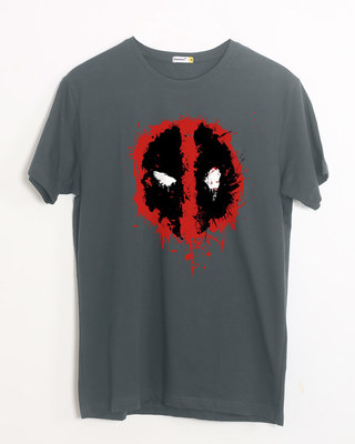 Shop Deadpool Splash Half Sleeve T-Shirt (DPL)-Front