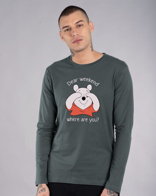 Shop Dear Weekend Full Sleeve T-Shirt (DL)-Front