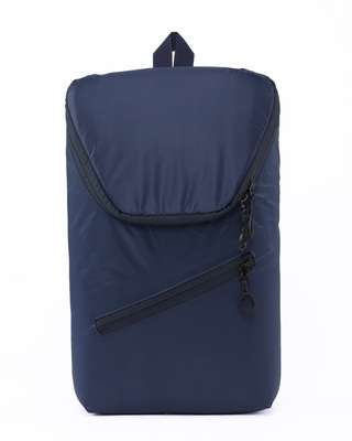 Shop Deep Blue Mini Backpack-Front