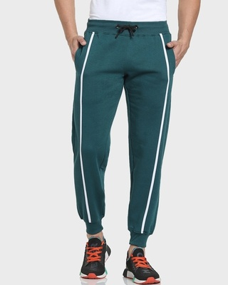 Shop Deep Lake Solid Joggers AW 21-Front