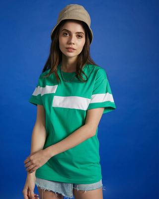 Shop Bubble Gum Panel Boyfriend T-Shirt-Front