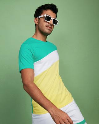 Shop Bubble Gum Three Panel Color Block T-Shirt-Front
