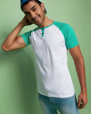 Shop Bubble Gum Henley Raglan T-Shirt-Front