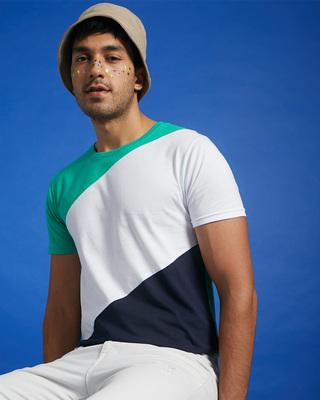 Shop Bubble Gum Three Block T-Shirt-Front