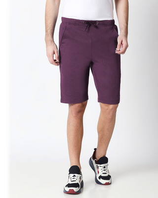 Shop Deep Purple Men's Casual Shorts-Front