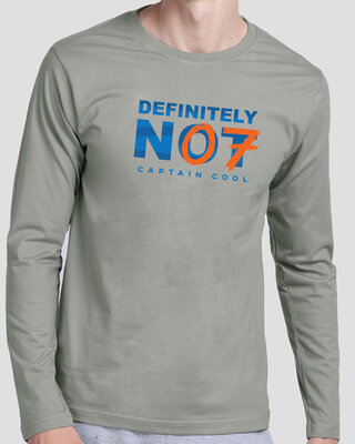 Shop Definitely Not 7 Full Sleeve T-Shirt Meteor Grey-Front