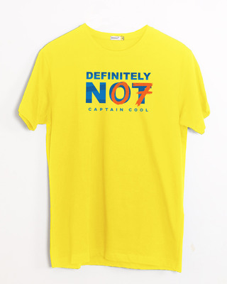Shop Definitely Not 7 Half Sleeve T-Shirt-Front