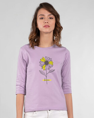 Shop Demure 3/4th Sleeve T-Shirt-Front