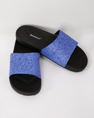 Shop Denim Sliders-Front