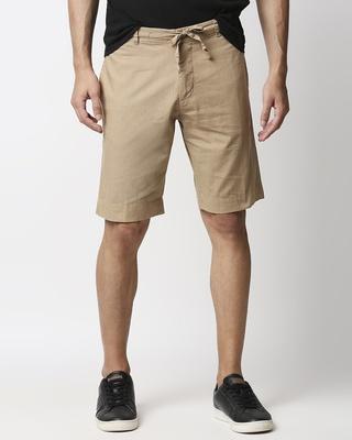 Shop Desert Beige Comfort Shorts-Front