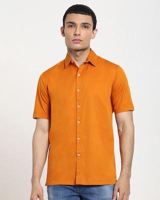 Shop Desert Sun Half Sleeve Solid Shirt-Front