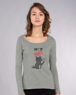 Shop Diet Tip Scoop Neck T-Shirt-Front