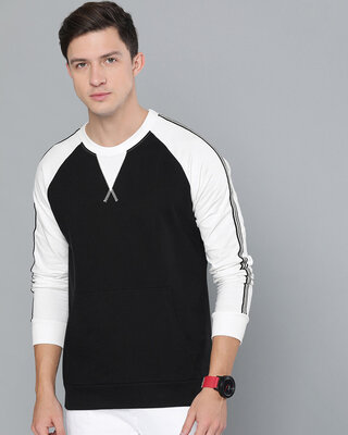 Shop Difference of Opinion Black Solid Sweatshirt-Front