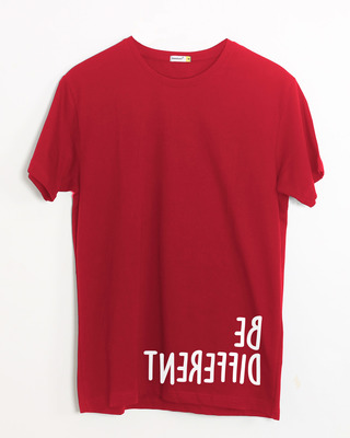 Shop Different Mirror Half Sleeve T-Shirt-Front