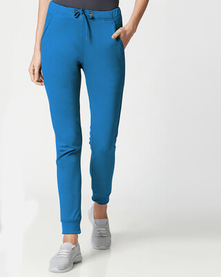 Shop Digi Teal Women's Casual Joggers-Front