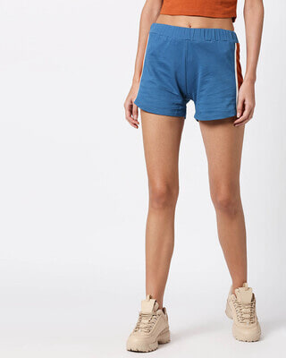 Shop Digi Teal Women's Side Panel Shorts-Front