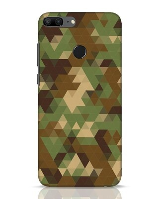 Shop Digital Camo Huawei Honor 9 Lite Mobile Cover-Front