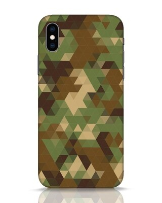 Shop Digital Camo iPhone XS Mobile Cover-Front