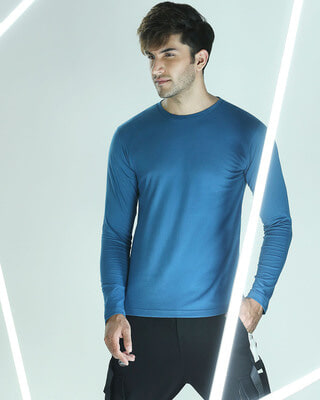 Shop Digi Teal Full Sleeve T-Shirt-Front