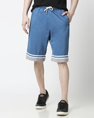 Shop Digital Teal Men's Varsity Shorts-Front